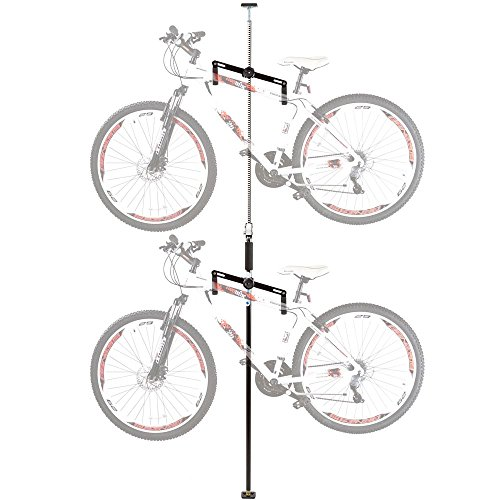 Double Vertical Bicycle Storage Hanger Rack for Garages or Apartments Review
