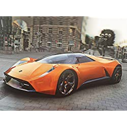 LAMBORGHINI 3D UNFRAMED Holographic Wall Art-Lenticular Technology Causes The Artwork To Have Depth and Move-HOLOGRAM Style Images-HOLOGRAPHIC Optical Illusions By THOSE FLIPPING PICTURES