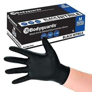 100 x guardaespaldas nitrilo PF guantes desechables Tamaño