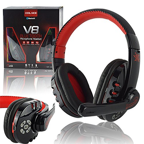 Novpeak 2.4GHz Over The Ear Bluetooth 3.0 Wireless Stereo Headset Gaming Headphones/ Music
