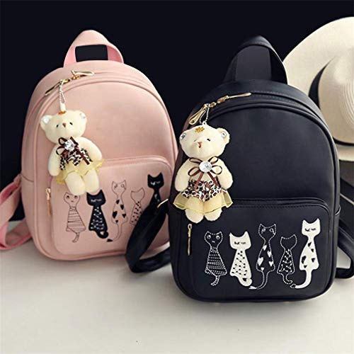 Bag Female Purse 03 Leather 4Pcs Girls Small School PU Women Backpacks Teenage Bags Shoulder BnOASqPO7