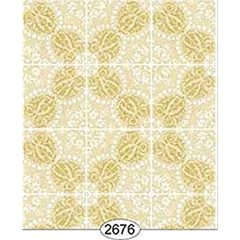 MINIATURE DOLLHOUSE WALLPAPER 1:12 SCALE ROSE HILL TOILE BLACK ON YELLOW-2643