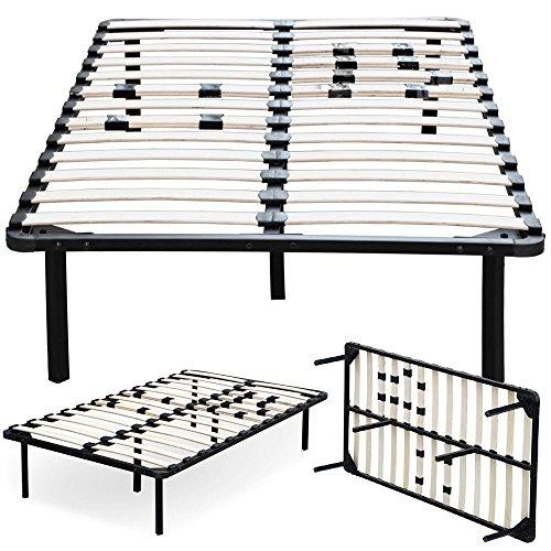 Wood Slats Metal Bed Frame Platform Bedroom Mattress Foundation Twin Size Black By (Twin Low Post Slat Bedroom)