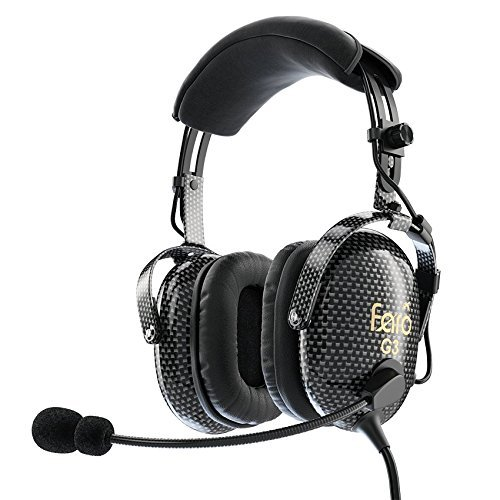 FARO G3 ANR Aviation Headset (Active Noise Reduction) Carbon Fiber Premium Pilot Headset with Bluetooth by Faro Aviation