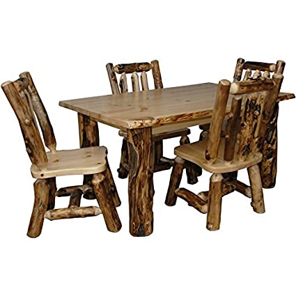 Amazon.com : Furniture Barn USA Rustic Aspen Log Kitchen ...