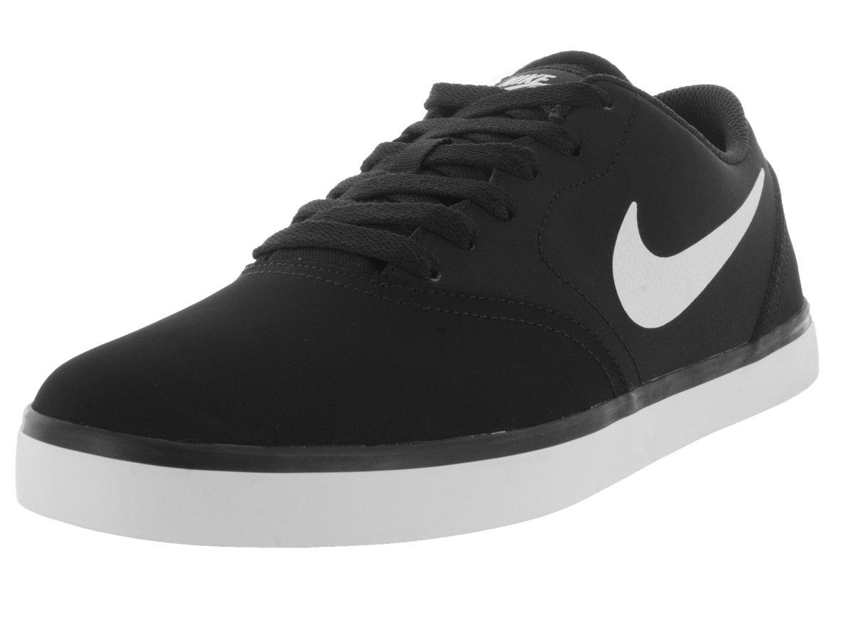 NIKE Men's SB Check Solar Skate Shoe B00P8M45FQ 10 D(M) US|Black/White-black