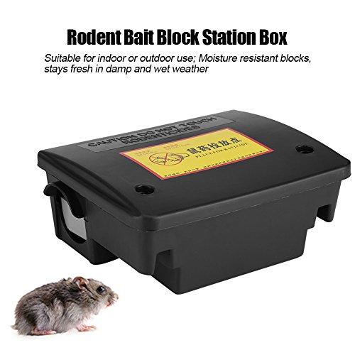 Dioche Trampa Ratas, Caja de estación de Bloques de Cebo de Roedores Caja de Trampa de Ratones de Ratón con Teclas