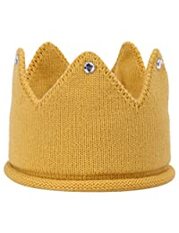 EOZY Babies Candy Color Crown Hat Knit Crochet Beanie Headband Caps