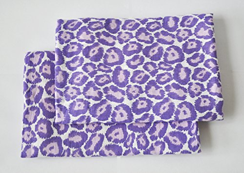 (Bacati Ikat Lilac/purple Leopard 2 Pc Muslin Crib Sheets)