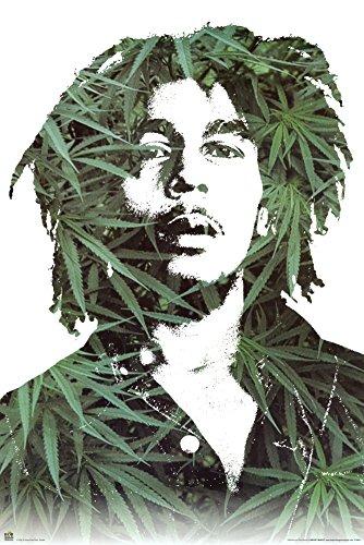 Bob-Marley-Marijuana-Ganja-Leaves-Pot-Poster-Poster-Print-24x36-Poster-Print-24x36