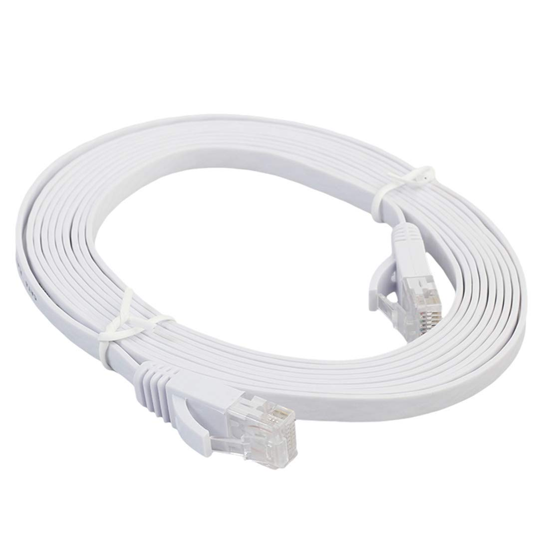 Orange Color : White Patch Lead RJ45 JINYANG 2m CAT6 Ultra-Thin Flat Ethernet Network LAN Cable