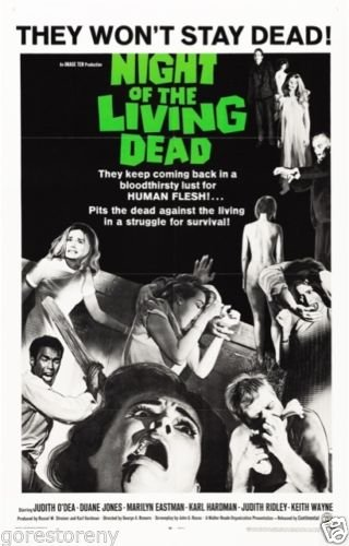 "Night of Living Dead  Movie Poster 24""x36"""