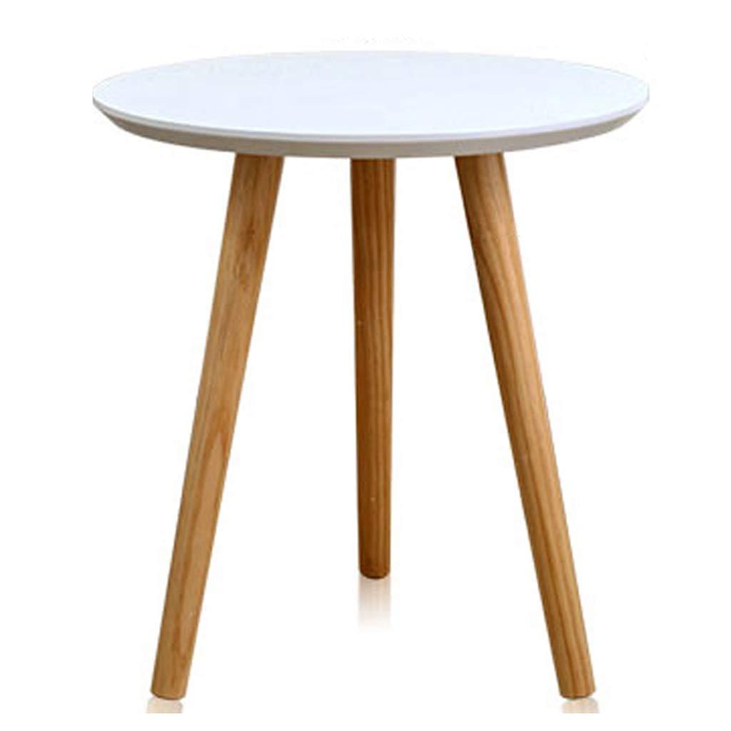 Kleiner runder Tisch Stilvoller Massivholz Couchtisch Einfaches Wohnzimmer Sofa Ecktisch Büro Lässig Magazin Mini Balkon Couchtisch (Color : 60X60X61.5CM)