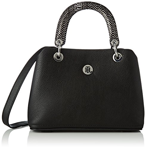 Tommy Hilfiger Med Noir Black Sac à AW0AW05442 main Satchel Th Core Femme 4qr4wTU