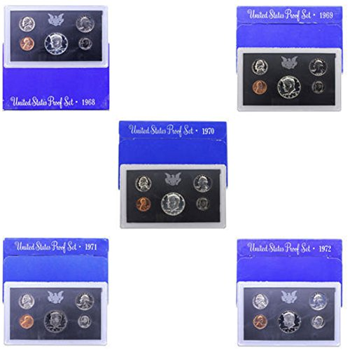 Mint Us Clad - 1968 S -1972 US Mint Set Clad Proof