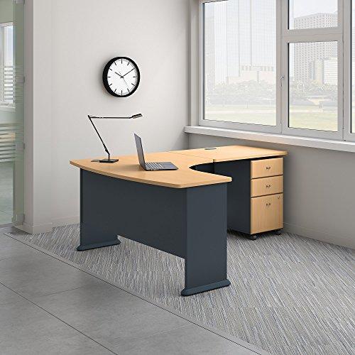 Bush Business Furniture SRA056BESU Office Suite, Beech and Slate