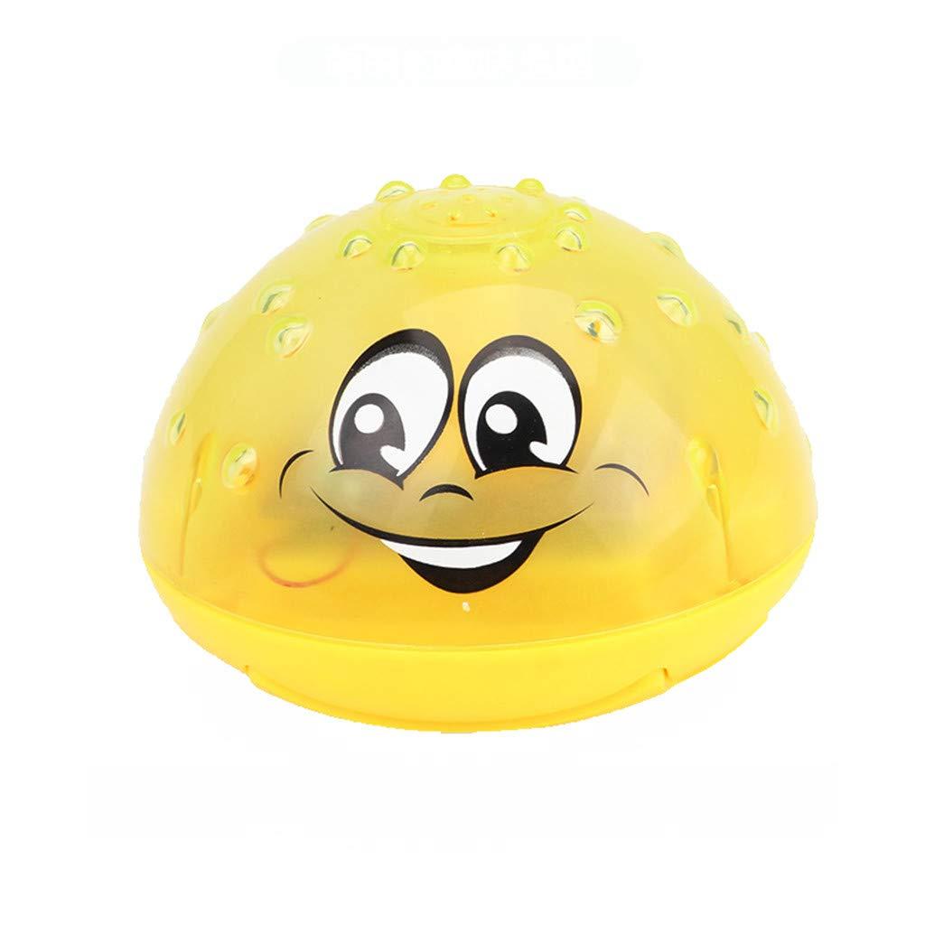 Kid Badewanne Sprinkler Badegew/äSser Utensilien Kreative Baby-Dusche,Pool Spielzeug Kinder Mit Licht TPulling Baby Badewanne Spielzeug Gelb, Einheitsgr/ö/ße