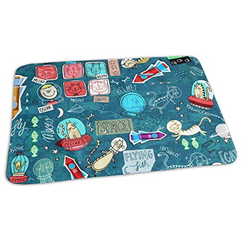 GniDN0 Space Odyssey Pattern Changing Pad - Portable Baby Diaper Changing Mat(27.5â€x19.7â€), Reusable, Great for Any Places for Stroller Crib Car