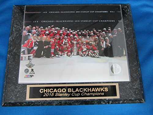 2015 Chicago Blackhawks Stanley Cup Champions Engraved Collector Plaque w/8x10 Celebration Photo ()