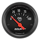 Auto Meter 2634 Z-Series Short Sweep Electric Oil Pressure Gauge