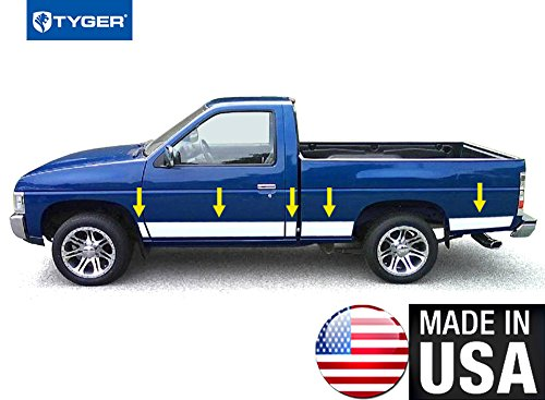 Made in USA! Works with 1988-1998 Chevrolet/GMC C/K Pickup Regular Cab Short Bed W/O Fender Flare Rocker Panel Chrome Stainless Steel Body Side Moulding Molding Trim Cover 6.25