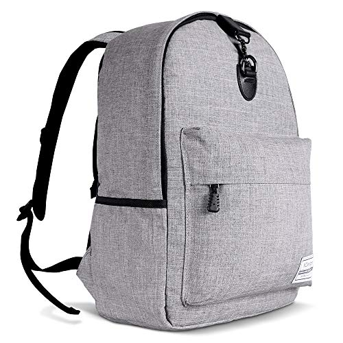 XDesign Travel Laptop Backpack with USB Charging Port +Anti-Theft Lock [Water Resistant] Slim Durable College School Computer Bookbag for Women, Men, Outdoor Camping&Fits Up to 16-inch Notebook -Grey