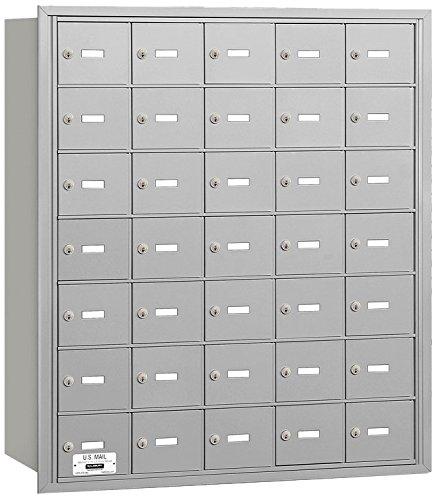 Salsbury Industries 3635ARU 4B Plus Horizontal Mailbox, 35 A Doors, Rear Loading, USPS Access, Aluminum