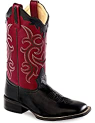 Old West Womens Scalloped Colorful Cowgirl Boot Square Toe - 18103