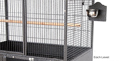 Mcage NEW Large Double Stackers 1/2 Bar Spacing Heavy Duty Breeding Breeder Parrot Aviary Bird Cage 10026 A