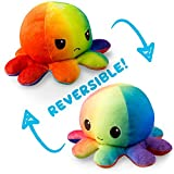 TeeTurtle   Reversible   Cute Mini Plushies   Light and Dark Rainbow Octopus   Squish Often - Cuddle Daily   Show Your Mood with Emotion