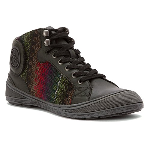 OTBT Women's Providence Fashion Sneaker, Black, 7 M US