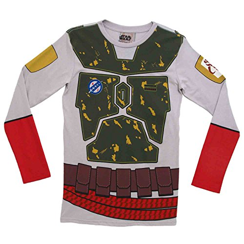 [I Am Boba Fett Star Wars Movie Mighty Fine Costume Adult Long Sleeve T-Shirt Tee (X-Large)] (Star Wars Boba Fett Girls Costumes)