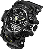 Men's Watches Military Sports Electronic Waterproof LED Stopwatch Digital Analog Dual Display Outdoor