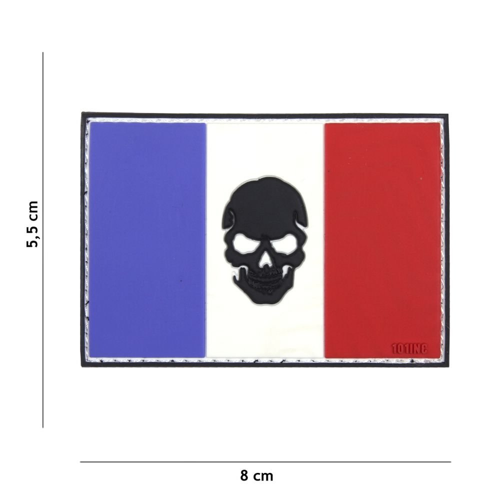 Patch 3D PVC Punisher Drapeau France Cosplay Airsoft Camouflage
