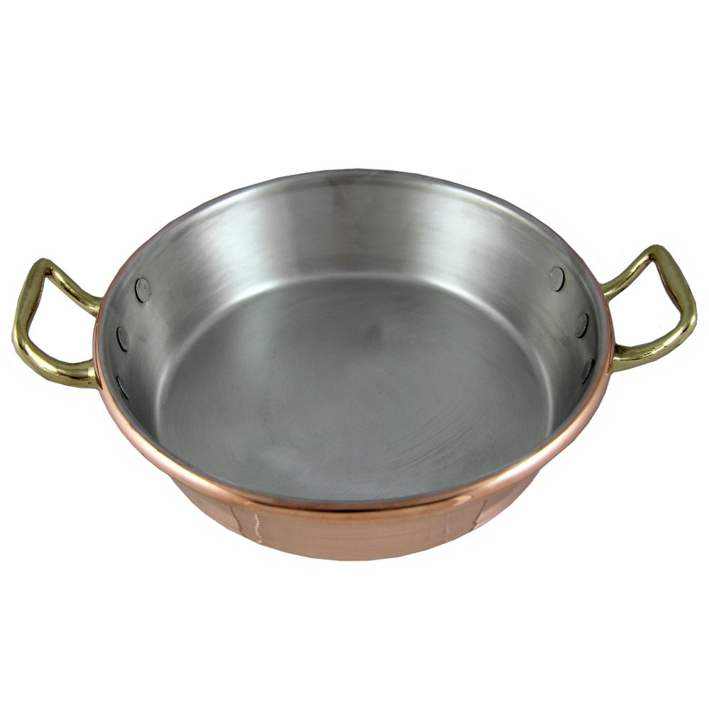 Traditional Copper Paella Pan Paellera Made In Portugal (N1. 8'' - 20 CM)