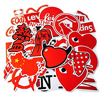 GMADD Logotipo de la Marca Diferente Pegatinas Rojas para ...