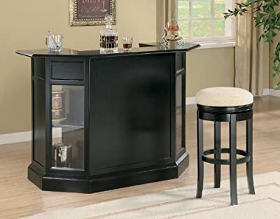 Coaster Contemporary Bar Black in Finish