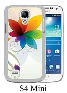 flower vector White Unique Abstract Custom Samsung Galaxy S4 Mini Case