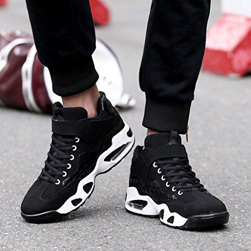 Herbst Winter Sport Laufschuhe Rutschfeste Dämpfung Basketball Schuhe Casual High Top Sneakers 38-43 Black