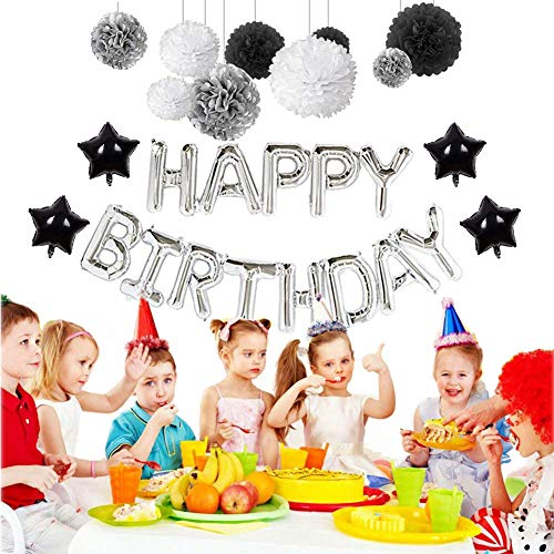 60th Birthday Decorations Puchod Happy Banner Kit Number 60 Foil Ballon Party Set