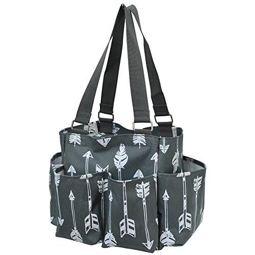 Cheap Arrow Print NGIL Small Zippered Caddy Organizer Tote Bag