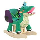 Labebe Child Rocking Horse Toy, Stuffed Animal Rocker, Green Crocodile Plush Rocker Toy for Kid 1-3 Years, Wooden Rocking Horse Chair/Child Rocking Toy/Outdoor Rocking Horse/Rocker/Animal Ride on