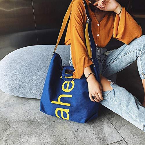 Borse donna in tracolla a tracolla Blue per nylon akaddy a 6wxt6d
