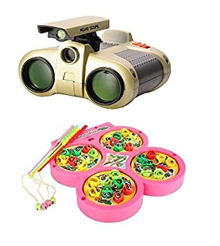 New Pinch Fishing Catching Game Funny Game with Night Scope Binocular with Pop-Up Light for Kids