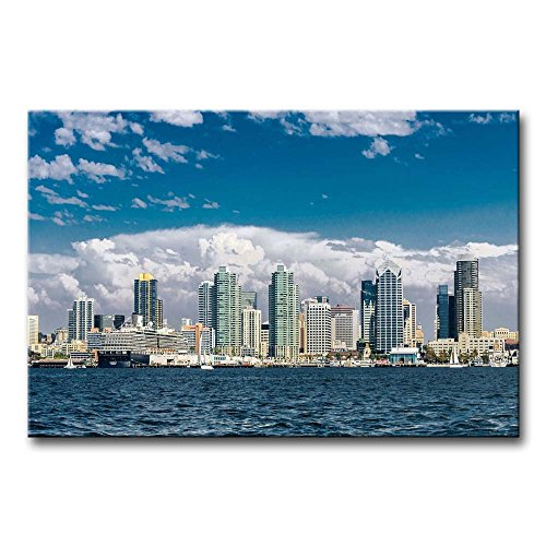 So Crazy Art Wall Art Painting San Diego Skyline Building By Sea Pictures Prints On Canvas City The Picture Decor Oil For Home Modern Decoration Print For Kids Room