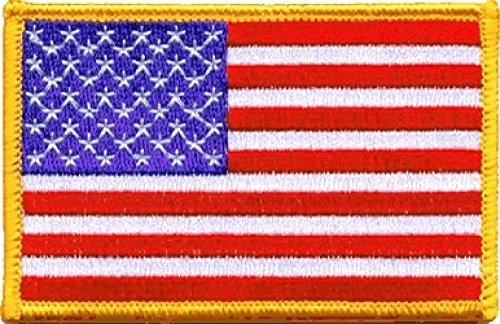(United States US Flag Iron-On Patch [2.25