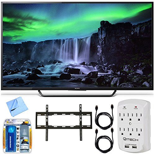 Sony XBR-65X810C - 65-Inch 4K Ultra HD 120Hz Android Smart LED TV Mount Bundle includes 65-Inch 4K Ultra HD TV, Mount, Cleaning Kit, Micro Fiber Cloth, 2 HDMI Cables and Surge Protector w/ USB Ports