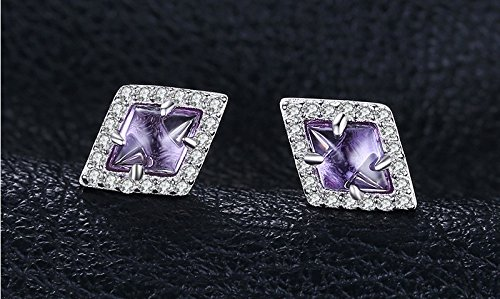 2.73ct Created Alexandrite Sapphire Stud Earrings 100% 925 Sterling Silver Vintage Fine Jewelry For Women