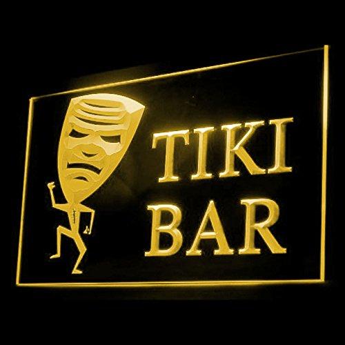 Tiki Bar Mask Funny Tropical Paradise fashionable Bar LED Light Sign 170043 Color (Paradise Tiki Bar)