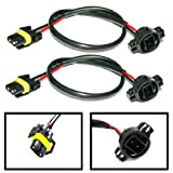 iJDMTOY (2) 5202 H16 Wire Harness For Installing HID Ballast to Stock Socket for HID Conversion Kit